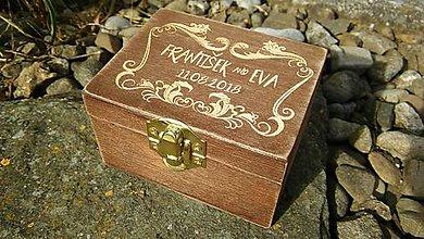 Krabičky - Krabička na prstene s gravirovaním - 9423588_