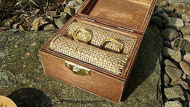 Prstene - Krabička na prstene s gravirovaním - 9423589_