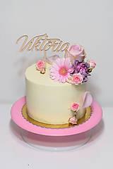 Dekorácie - Zápich na tortu Viktória - 9424674_