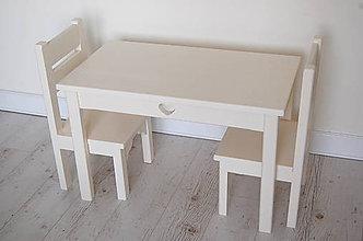 Nábytok - Detský set 2 (Vanilka/slonová kosť) - 9424411_