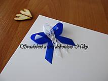 Pierka - Pierka pre hostí (Kráľovská modrá) - 9422052_