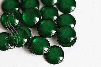 Komponenty - kabošony - živicové želé /12mm/1ks (Zelená) - 9424158_