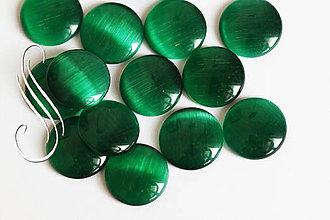 Minerály - CAT EYE 12 mm/1ks (Zelená) - 9424378_