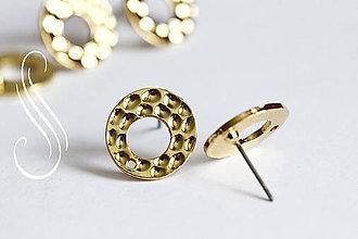 Komponenty - Puzeta Gold Ring /1pár - 9424460_