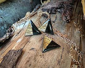 Náušnice - ...MINIMAL - sada trojuholníkovej bižutérie... - 9422764_