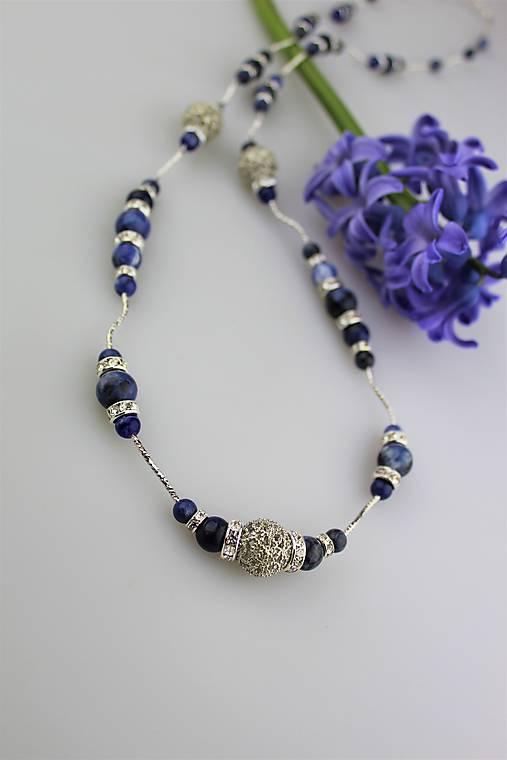 Sodalit náhrdelník 90cm luxusný   Sima-polodrahokamy - SAShE.sk ... e9075304d5c
