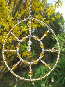 Dekorácie - Svetlohra do záhrady - chirurgická oceľ - suncatcher - 9422081_