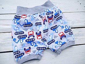 Detské oblečenie - Dětské kraťasy-Bagr - 9422805_