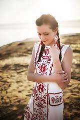 Šaty - zľava %Dlhé úzke vyšívané šaty Slavianka - 9421888_