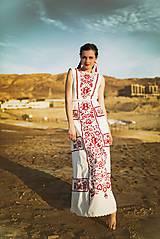 Šaty - zľava %Dlhé úzke vyšívané šaty Slavianka - 9421890_