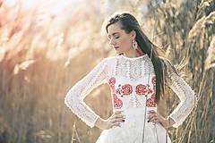 Šaty - Tylové šaty s výšivkou Slavianka - 9422091_