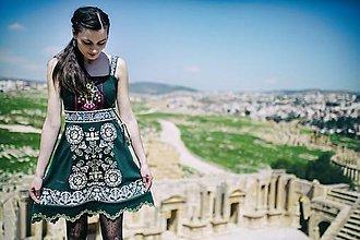 Šaty - Zelené úpletové šaty Slavianka - 9422527_
