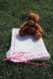 Textil - Bílá dečka holčičkovatá - 9422847_