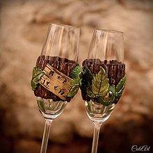 Nádoby - Spoločná cesta zamilovaných - sada svadobných pohárov - 9424386_