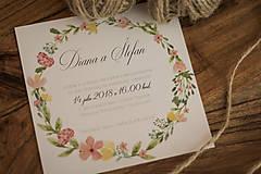 Papiernictvo - Svadobné oznámenie - Jar - 9422346_