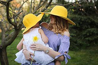 Čiapky - Letný klobúk žltej farby - 9424743_