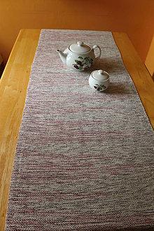 Úžitkový textil - RUČNĚ TKANÝ STREDOVÝ OBRUS1 - 9422074_