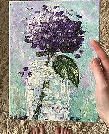 Obrazy - Maličká fialová pufka :) - 9422386_