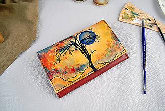 Peňaženky - Ručne maľovaná peňaženka s motívom Zima - 9424211_