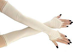 Rukavice - Dámské svadobné ivory rukavice 0025 - 9423502_