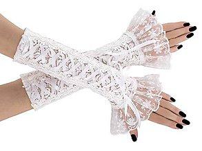 Rukavice - Svadobné čipkové rukavice pre nevestu 0426 - 9424771_