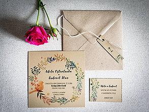 Papiernictvo - Svadobné oznámenie Adela + Ľudovít - 9422484_