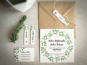 Papiernictvo - Svadobné oznámenie Júlia + Peter - 9422509_