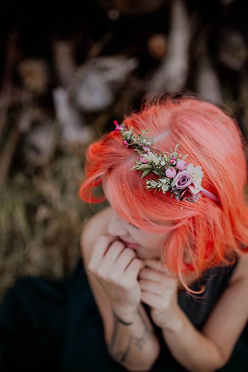 """Kvetinová čelenka """"obyčajné ráno"""""""