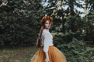 Ozdoby do vlasov - Kvetinový boho venček