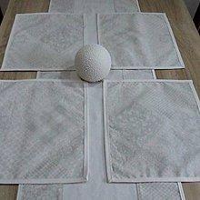 Úžitkový textil - Krémovo sivý patchwork - prestieranie 30x40 - 9423571_