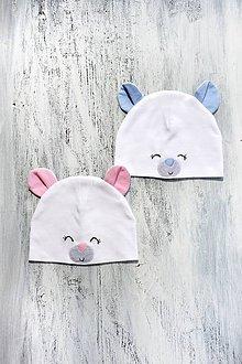 Detské čiapky - Pružná čiapka medvedík-rôzne farby - 9423030_