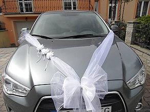 Dekorácie - Svadobná výzdoba autá - 9422750_