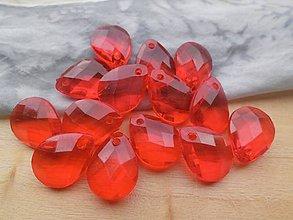Korálky - Akrylové koráliky - pár (Červená) - 9423557_