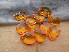 Korálky - Akrylové koráliky - pár (Oranžová) - 9423608_