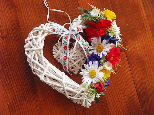 6e20e7103 Folklórne srdce 26cm / erikak - SAShE.sk - Handmade Dekorácie
