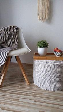Úžitkový textil - Puf alebo príručný stolík - priemer 50 cm - 9423400_