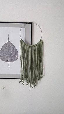Dekorácie - Závesná dekorácia - škandinávsky kruh olivový - 9424431_