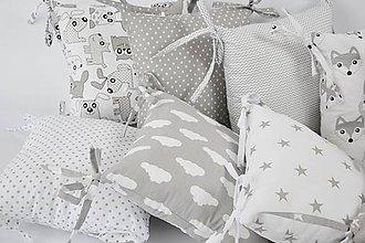 Textil - Vankúšikové mantinely sivé - 9425303_