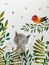 Obrazy - Kocúrkovo 4 rastliny ilustrácia / originál maľba - 9426153_