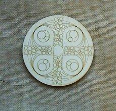 Polotovary - Výrez z preglejky - mandala, kruh, vzor, 14,5 cm - 9425710_