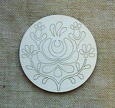 Polotovary - Výrez z preglejky - mandala, kruh, folk, ľudový, 14,5 cm - 9426127_