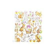 Papier - Glitrované nálepky - zajačiky, 29ks - 9427009_