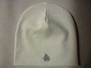 Detské čiapky - Lienka - dvojvrstvová čiapka BIOBAVLNA - 9425011_