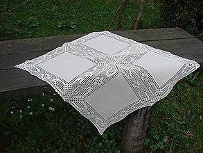 Úžitkový textil - ľanové prestieranie štvorcové