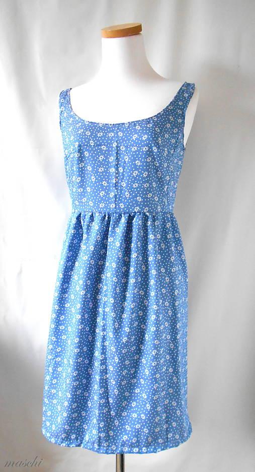 8b4b435c94 Zľava . dámske šaty Denim margarets   MASCHI - SAShE.sk - Handmade Šaty