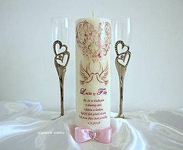 Svietidlá a sviečky - Svadobná sviečka - 9426923_