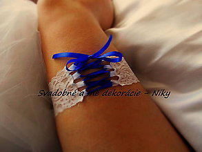 Bielizeň/Plavky - Elegantný podväzok pre NÁROČNÉ nevesty - 9425870_
