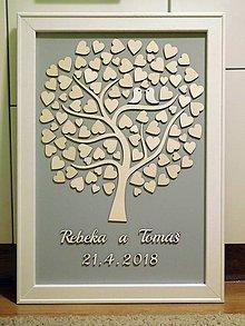 Dekorácie - svadobná kniha hostí/drevený strom 11 - 9426223_