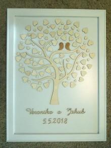 Dekorácie - svadobná kniha hostí/drevený strom 13 - 9426289_