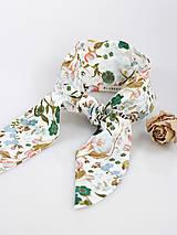 Šatky - Letná kvetinová šatka do vlasov alebo krku